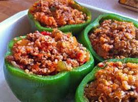 Полнети пиперки, вегетаријанска храна
